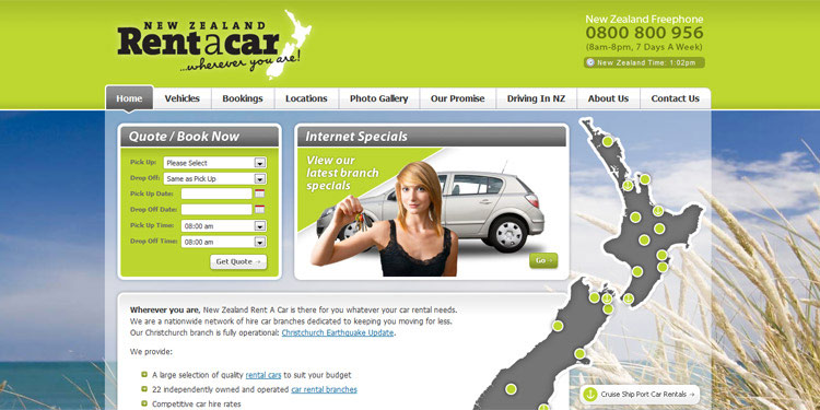 New Zealand Rent A Car