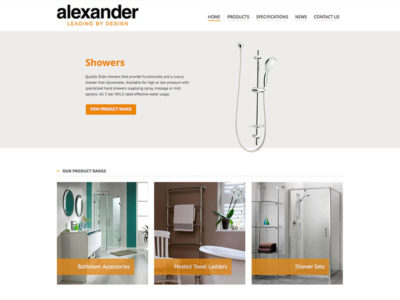 Business web sites portfolio for Alexander manufacturing company