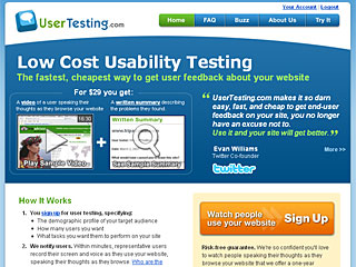 Website User Testing