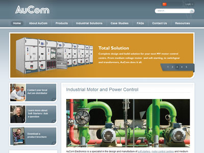 Web design for AuCom