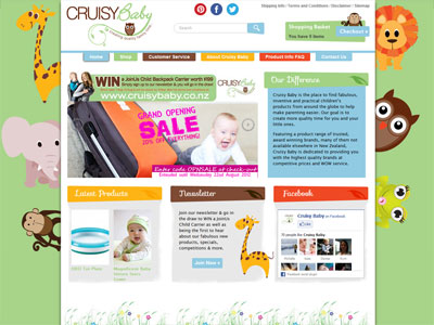 Web design for Cruisy Baby