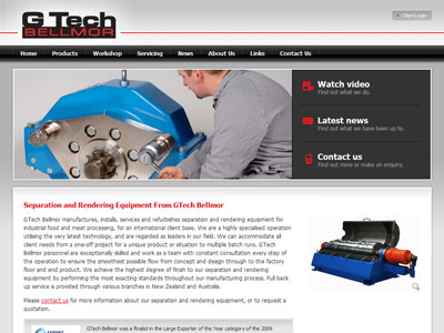 Web design for G-Tech Bellmor