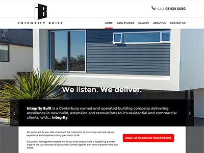 Web design for Integrity Built