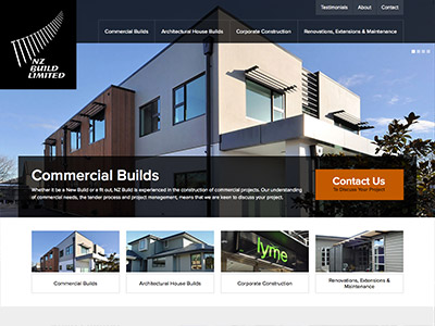 Web design for NZ Build Limited