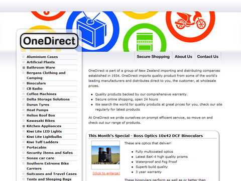 Web design for OneDirect