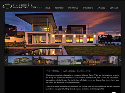 Web design for Oneil Architecture
