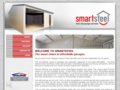 Web design for Smart Steel
