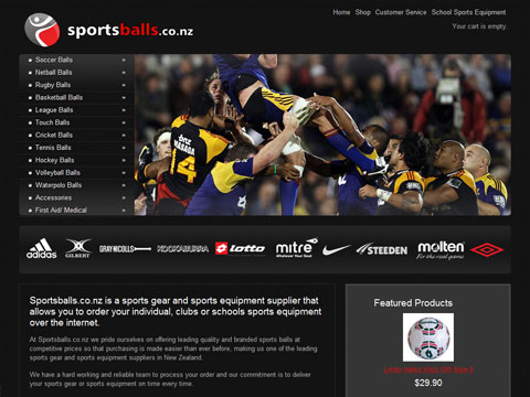 Web design for Sportsballs