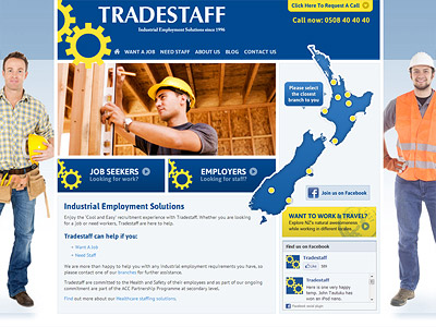 Web design for Tradestaff